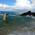 jen in water